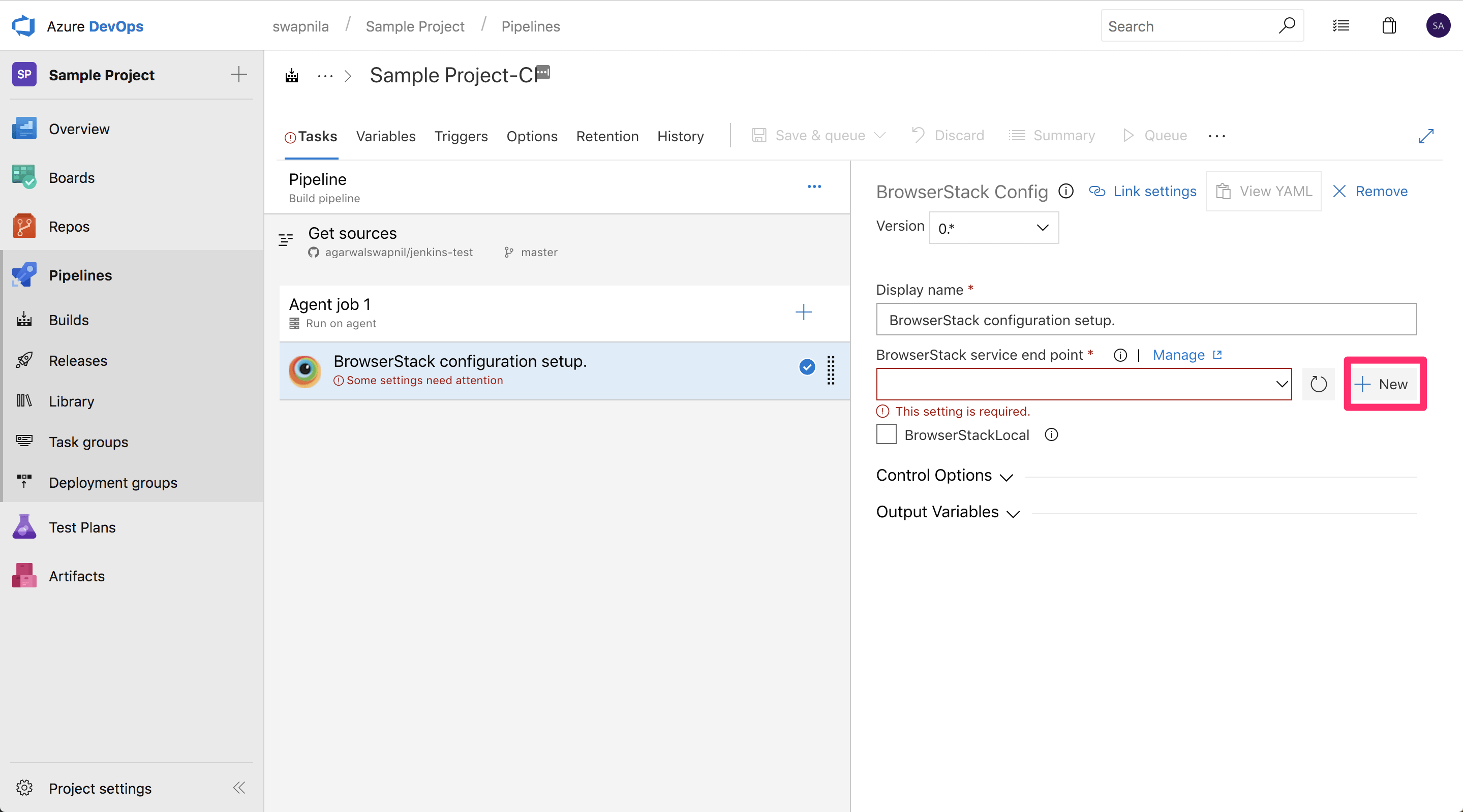 BrowserStack - Setup Appium tests with Azure Pipelines or VSTS
