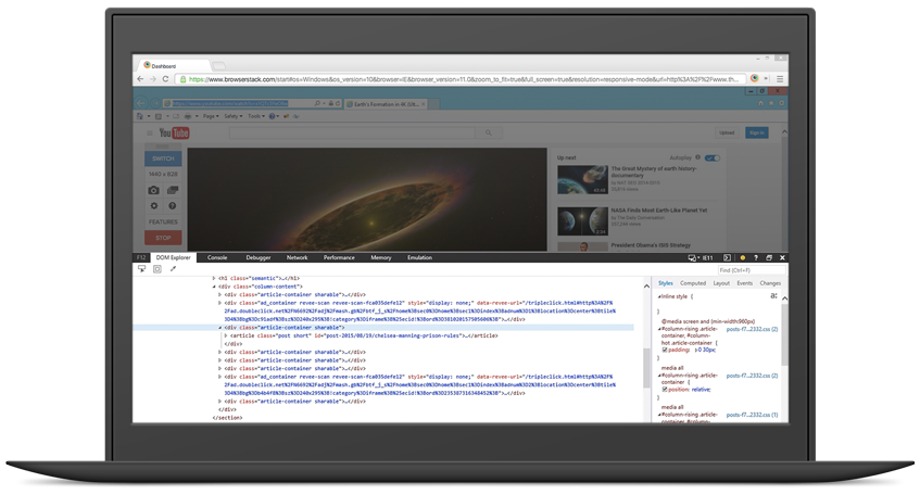 Native experience on remote browsers