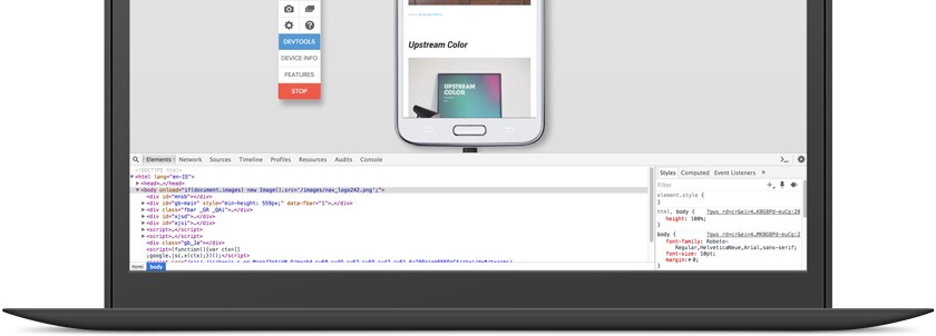 Chrome developer tools for iOS and Android