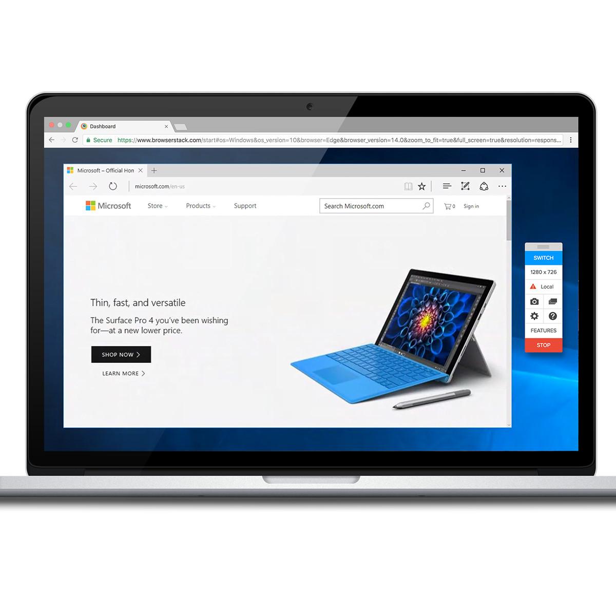 Free Microsoft Edge Browser Testing on Windows 10 | BrowserStack